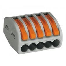 Клеммная колодка 5-проводная WAGO 222-415 с нажимным рычагом