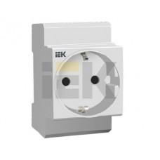 Розетка IEK РАр10-3-ОП с заземлением на DIN-рейку (MRD10-16)