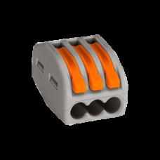 Клеммная колодка 3-проводная WAGO 222-413 с нажимным рычагом